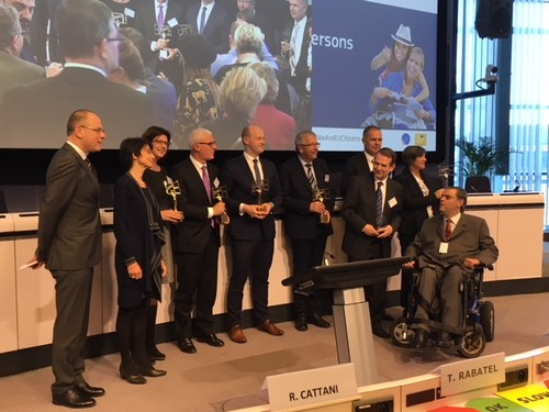 Uitreiking Access City Award in Brussel