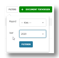 schermafdruk documentenfilters in mijnvaph.be