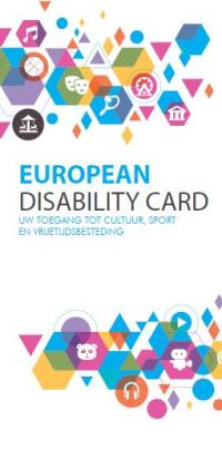 cover brochure 'European disability card'